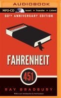 Cover image for Fahrenheit 451 [sound recording MP3]