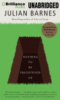 Cover image for Nothing to be frightened of