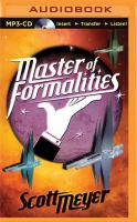 Cover image for Master of formalities [sound recording MP3] : an epic sci-fi comedy of manners