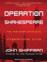 Cover image for Operation Shakespeare [sound recording CD] : the true story of an elite international sting