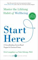 Cover image for Start here : master the lifelong habit of wellbeing