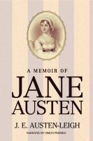 Cover image for A memoir of Jane Austen