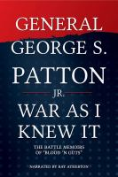 Cover image for War as I knew it