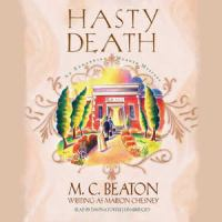 Cover image for Hasty death. bk. 2 [sound recording CD] : Edwardian murder mysteries