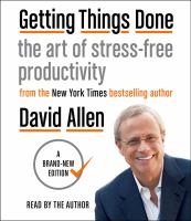 Cover image for Getting things done [sound recording CD] : the art of stress-free productivity