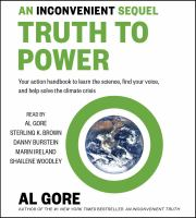 Cover image for An inconvenient sequel : truth to power [sound recording CD] : your action handbook to learn the science, find your voice, and help solve the climate crisis