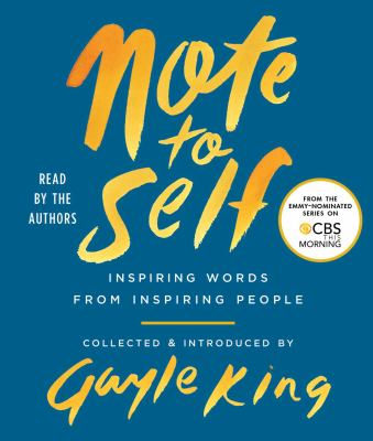 Cover image for Note to self [sound recording CD] : inspiring words from inspiring people