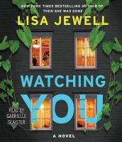 Cover image for Watching you [sound recording CD] : a novel