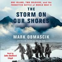 Cover image for The storm on our shores One Island, Two Soldiers, and the Forgotten Battle of World War II.