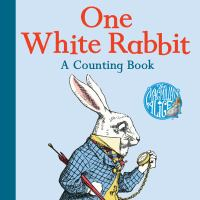 Cover image for One white rabbit [board book] : a counting book