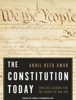 Imagen de portada para The constitution today Timeless Lessons for the Issues of Our Era.