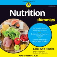 Cover image for Nutrition for dummies 6th edition