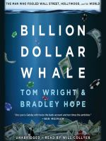 Cover image for Billion dollar whale The Man Who Fooled Wall Street, Hollywood, and the World.