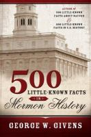 Cover image for 500 little known facts in Mormon history