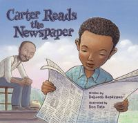 Cover image for Carter reads the newspaper