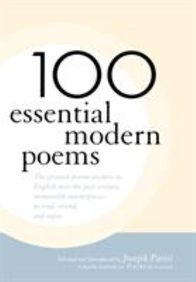 Cover image for 100 essential modern poems
