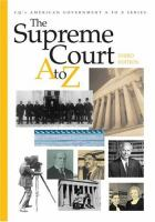 Cover image for The Supreme Court A to Z