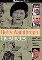 Imagen de portada para Hetty Wainthropp investigates. Season 1, Complete Complete first series.