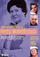 Cover image for Hetty Wainthropp investigates. Season 3, Complete Complete third series.