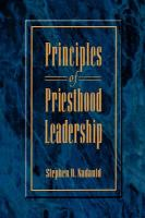 Cover image for Principles of priesthood leadership