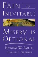 Cover image for Pain is inevitable, misery is optional