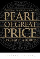 Cover image for Doctrinal commentary on the Pearl of great price