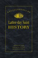 Cover image for Encyclopedia of Latter-Day Saint history