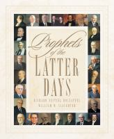 Cover image for Prophets of the Latter Days