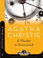 Cover image for A murder is announced : Miss Marple series