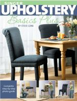 Cover image for Singer upholstery basics plus : complete step-by-step photo guide