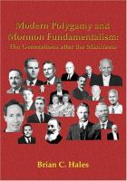 Cover image for Modern polygamy and Mormon fundamentalism : the generations after the manifesto