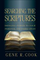 Cover image for Searching the scriptures personal scripture study