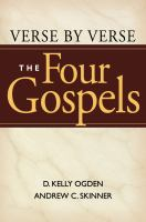 Cover image for Verse by verse, the four Gospels