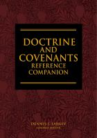 Cover image for Doctrine and Covenants reference companion