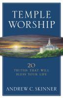 Imagen de portada para Temple worship : 20 truths that will bless your life