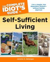 Cover image for The complete idiot's guide to self-sufficient living
