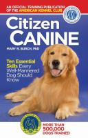 Cover image for Citizen canine : ten essential skills every well-mannered dog should know