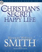 Cover image for The Christian's secret of a happy life