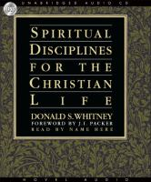 Cover image for Spiritual disciplines for the Christian life