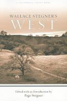 Cover image for Wallace Stegner's West
