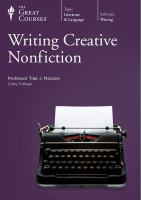 Cover image for Writing creative nonfiction [videorecording DVD].