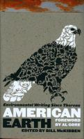 Cover image for American Earth : environmental writing since Thoreau