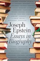 Cover image for Essays in biography