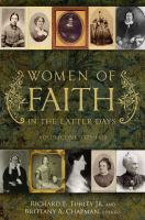Cover image for Women of faith in the latter days. Volume 1, 1775-1820