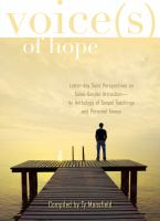 Cover image for Voices of hope : Latter-day Saint perspectives on same-gender attraction : an anthology of gospel teachings and personal essays