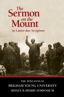 Cover image for The Sermon on the mount in Latter-day scripture