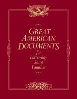 Cover image for Great American documents for LDS families
