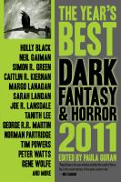 Cover image for The year's best dark fantasy and horror
