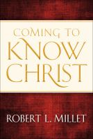Cover image for Coming to know Christ
