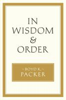Cover image for In wisdom and order